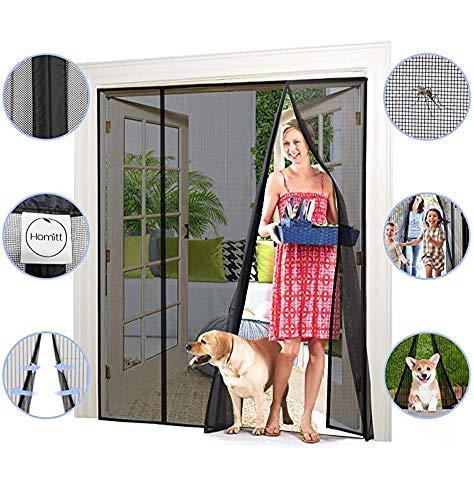 ZHZW Rideau Magnétique Anti-Moustiques avec Fermeture Moustiquaire Éloignant Les Insectes pour Fenêtre Et Porte De Salon,180x230cm(71x91inch)
