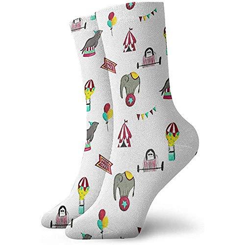 Tedtte Novedad Funny Crew Sock Circus Performance Impreso Sport Calcetines deportivos Calcetines de tubo personalizados de 30 cm de largo Calcetines de regalo