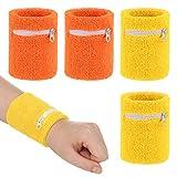 AKlamater 4Stück Schweissband Handgelenk Set, Sportarmband Schweißarmband Schweißband Wristbands...