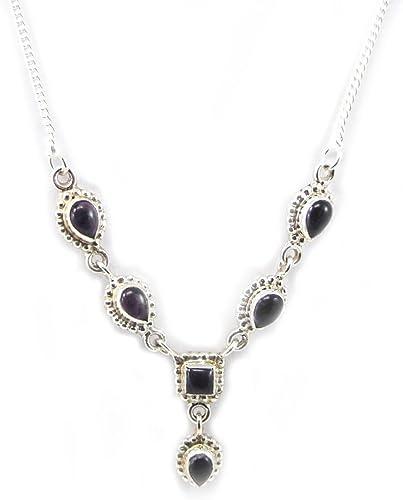 Les Trésors De Lily [F7845] - Halskette silber 'Heaven' amethyst.