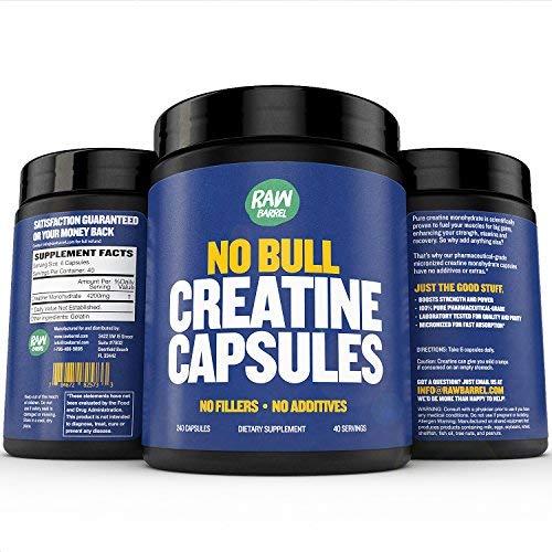 Raw Barrel's - No Bull Pure Creatine Monohydrate Capsules