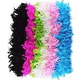 Jerbro Boa de plumas de colores suaves para mujer o niña, 6 unidades, 2 metros