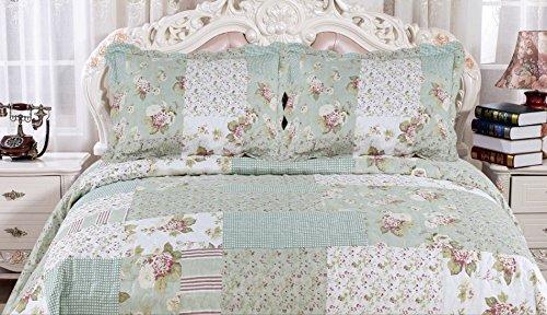 English Roses Quilt Set, Cotton ...
