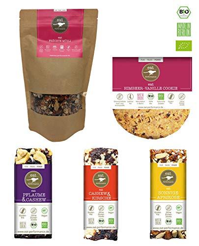 eat Performance® Kickstarter Box (3 Riegel, 1 Früchte Müsli, 1 Cookie) - Bio, Paleo, Glutenfrei Aus 100% Natürlichen Zutaten