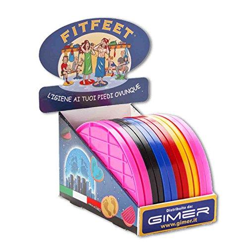 GIMER Fitfeet, Tappetino Unisex-Adulto, Multicolore, L
