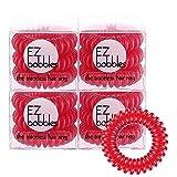 EZbobble 12PCS スプリングゴム ヘアゴム 12個セットヘアアクセサリー リングゴム 髪ゴム へアタイ 3.5CM 大人用 子供用 (スカーレット)