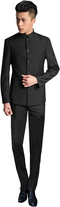YZHEN Men's Slim Fit 2 Pieces Wedding Suits Groom Tuxedos Business Suit