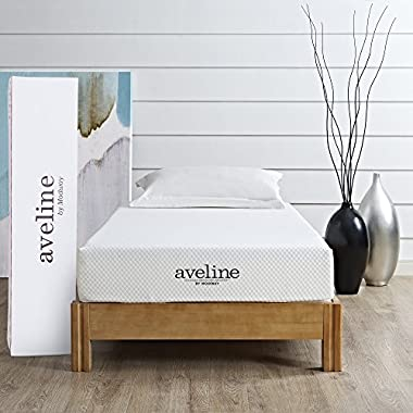Modway Aveline 8  Gel Infused Memory Foam Twin Mattress with CertiPUR-US Certified Foam - 10-Year Warranty