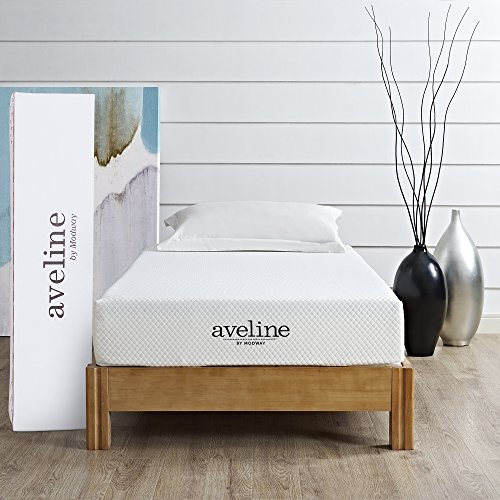 Modway Aveline 8' Gel Infused Memory Twin Mattress With CertiPUR-US Certified Foam, White