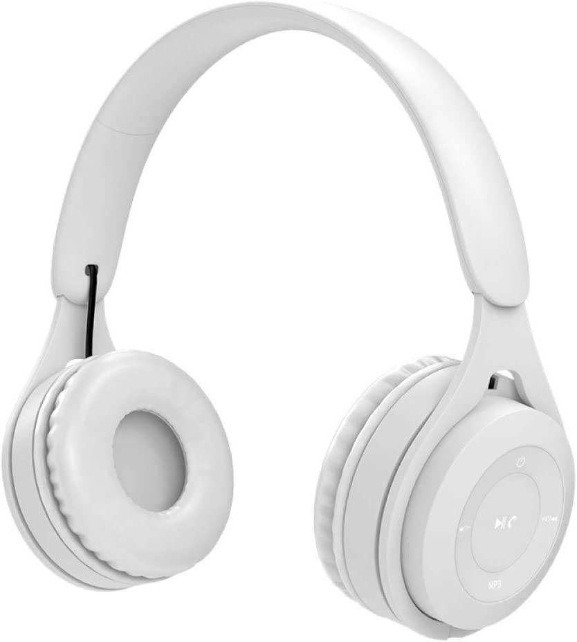 LUYANhapy9 Y08 Wireless Bluetooth Headphone,HiFi Stereo Over Ear Deep Bass Soft Headset with Microphone White One Size