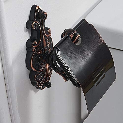 Tenedor de papel soportes de tejido de rollo de latón montado en la pared para toalla de papel Accesorios de baño de toalla negra WC Papel estante Papel de papel 1 (Color : Paper Holder1)