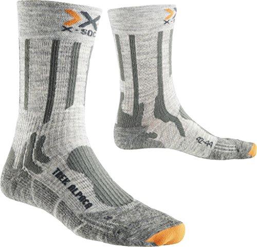 X-Socks Herren Trekking Alpaca Socken, Light Grey/Grey, 39/41