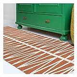 Brita Sweden HELMI - Alfombra moderna para terraza, jardín, alfombra rectangular, color naranja