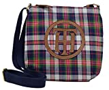 Tommy Hilfiger Women's Xbody Handbag with Large TH Logo, Size Small, Plaid