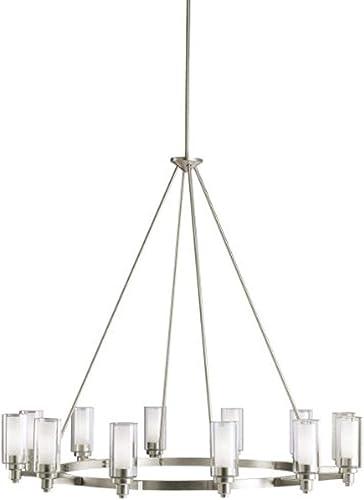discount Kichler 2347NI Circolo online Chandelier 12-Light, Brushed online sale Nickel online sale