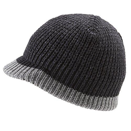 Icebox Knitting Dohm O'Rielly Merino Wool Winter Hat, Pepper, Medium/Large by