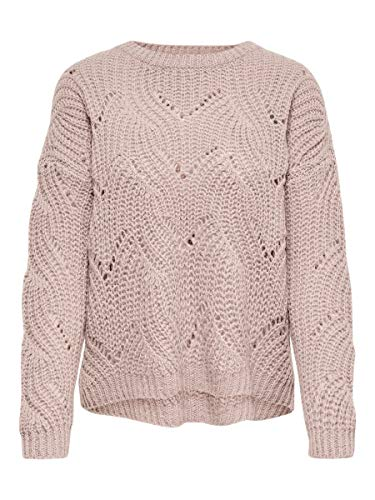 ONLY Damen Strickpullover Detailreicher MShadow Gray