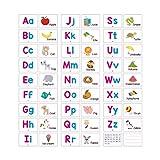 ABC Alfabeto Letra Bebé Aprendizaje Educativo Estudio Posters Aprendizaje Carteles Animales Frutas Tarjetas Cognitivas Juguetes Educativos Con Pluma Borrable Juguetes Para Niños