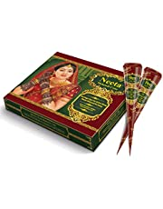 Neeta Mehendi Cone Body Art All Natural Herbal Ingredients Made from Pure Henna Past (Pack of 1)