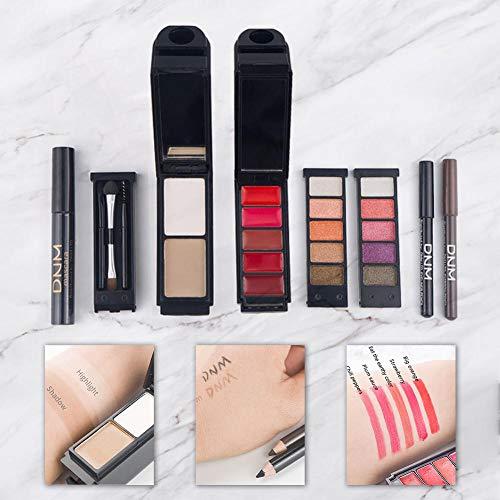 Globalqi-MU Portable Multi-Funktions-Make-up Set 8 STÜCKE Lidschatten Makeup Tools Chapstick...