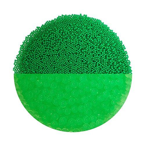 trendfinding Granulato per terriccio Artificiale - Perle d'Acqua da 1-2 mm - Verde