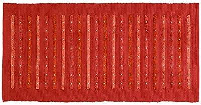 FERIDRAS Rug, Cotton, Rust-Coloured, 60x120x0.1 cm