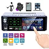 Hikity Single Din Car Stereo 4.1 Inch Touch Screen Radio Bluetooth FM AM