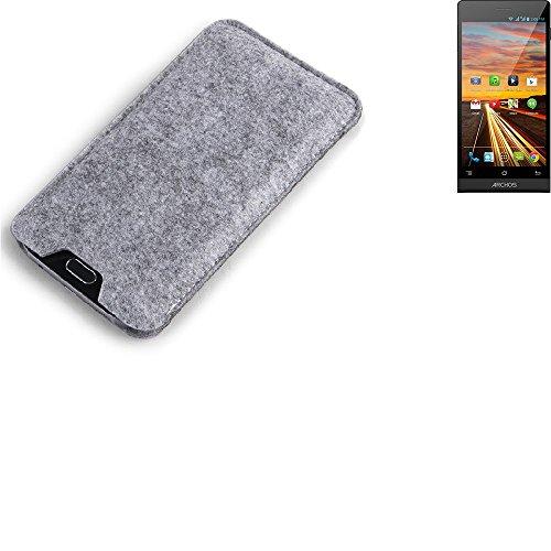 K-S-Trade® Filz Schutz Hülle Für Simvalley Mobile Pico RX-484 Schutzhülle Filztasche Filz Tasche Case Sleeve Handyhülle Filzhülle Grau