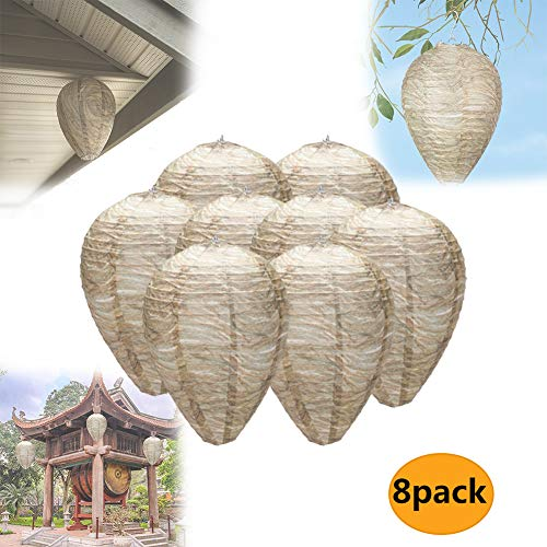 Asionper Wasp Nest Decoy Eco-Friendly Decoy Repellent Hanging Non-Toxic Wasp Deterrent for Wasps Hornets