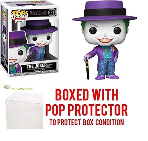 Figura de vinilo The Joker Pop #337 Pop Heroes: Batman 1989 (con protector EcoTek para proteger la pantalla)