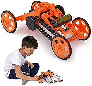 Engineering Stem DIY Car Assembly Gift Toy for Boys Kids & Adults - 4WD Electric Mechanical Construction Car Kit, Real Coo...