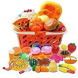 DigHeath 34 Pezzi Taglio Frutta e Finti Alimenti, Tagliare i Giocattoli, Giocattoli di Pla...