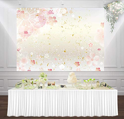 Portrait Photo Background Floral Photography Backdrop Pink Flowers 3D Photo Backdrops Decoration Background Wall Shoots Studio Backdrops Wedding Party Background Photo Backdrop for Wedding