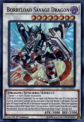 Yu-Gi-Oh! - Borreload Savage Dragon - SAST-EN037 - Savage Strike - First Edition - Ultra Rare