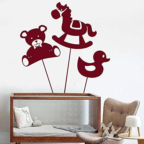 Pegatinas de pared infantiles lindo oso caballo pato juguete animal tema jardín de infantes zona de juegos dormitorio de los niños decoración del hogar pegatinas de pared de vinilo