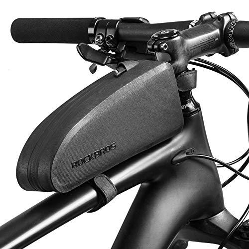 Feluz Fahrrad Rahmentasche, Wasserdicht Fahrrad Oberrohr Tasche für Mountainbike Rennrad, Fahrradtasche handyhalterung, Fahrradzubehör