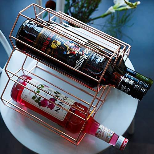 WINE RACK Haus, Bar, Hotel Ktv Weinregal, Getränkehalter, Weinbecherhalter, Dekoration, Wohnaccessoires,Roségold