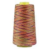 Polyester-Nähgarn, für Quilten, Overlock, Allzweckgarn, für Nähmaschine und Handnähen, 2743 Meter regenbogenfarben