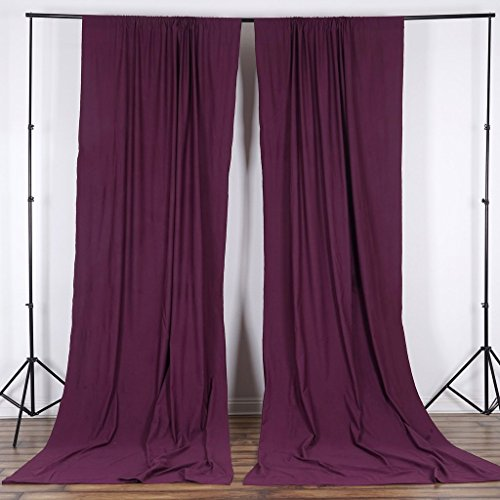 BalsaCircle 10 ft x 10 ft Eggplant Purple Polyester Photography Backdrop Drapes Curtains Panels - Wedding Decorations Home Party Reception Supplies