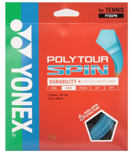 ヨネックス(YONEX) 硬式テニス ストリングス ポリツアースピン 125 (1.25mm) PTGSPN コバルトブルー