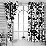 Cortinas decorativas Mic-key Min-nie Mouse Cortinas para dormitorio de niño (155 x 163 cm)