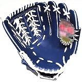 LiChaoWen Guante de béisbol Juventud de PVC Suave Duradero de 11.5 Pulgadas Mitones del Receptor (Color : Azul, Size : 11.5 Inch)