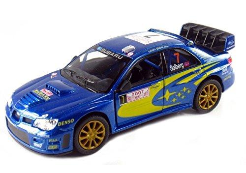 Subaru Impreza WRC 2007 Modelo de coche Rally Sports 1:36 Escala Diecast Metal Altamente detallada Puertas de apertura Tire hacia atrás Go Acción Modelo de calidad Car by Kinsmart