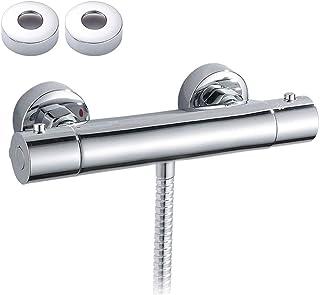 Support mural de salle de bain thermostatique douche chaude Eau froide la douche robinet Vanne de contr/ôle de temp/érature