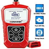 KONNWEI KW310 OBD2 Scanner Full OBDII Functions 10 Modes Automotive Engine Fault Code Reader Scan Tool for All 1996 and Newer Cars (Red)