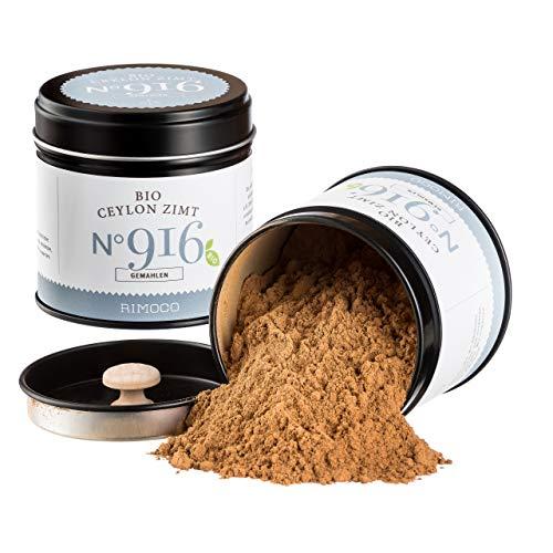 Bio Ceylon Zimt N°916 - süßlich, warm & würzig, in eleganter Gewürzdose mit doppeltem Aromadeckel, Inhalt: 50g