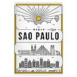 artboxONE Poster 90x60 cm Städte Linear Sao Paulo Poster -