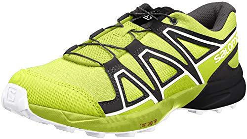 Salomon Kids Speedcross J Trail Running Shoes, acid lime/lime green/white, 5
