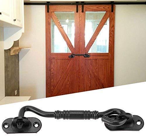 Deurslot, haak, zware verplicht solide verdikte roestvrij stalen deur vergrendeling, vergrendeling voor houten hekken, schuurtjes, Franse deuren, schuurpoorten, ramen