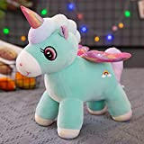LYXBWT Unicornio muñeca de Peluche de Juguete Lindo Pony muñeca muñeca niños niña durmiendo corazón muñeca 50 cm Verde
